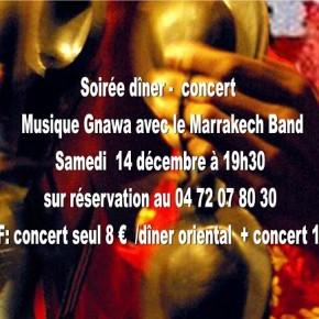 Dîner - Concert (Gnawa avec le Marrakech Band)